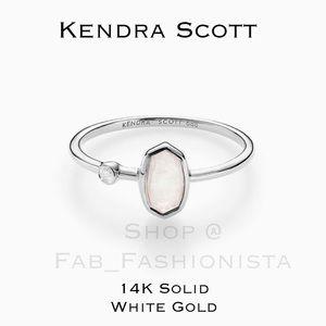 Kendra Scott 14K White Gold Moonstone Diamond Ring